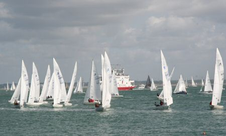 The International Etchells start line