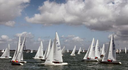 Close racing in the Etchells fleet