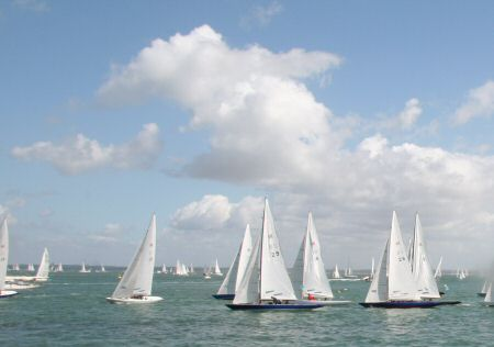 Blue skies at Cowes Week