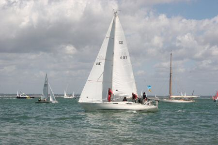 Gentle racing on the Solent