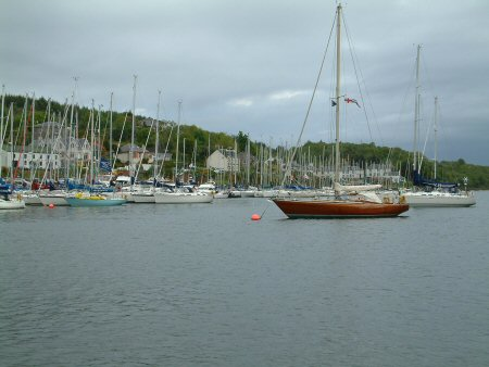 Looking across Tarbert harbour
