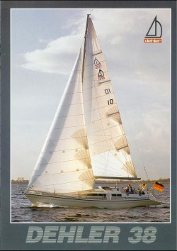 Front cover of the Dehler 38 brochure
