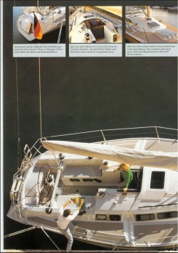 Arial shot of the Dehler 38 taken from the brochure