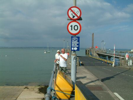 The ferry slipway