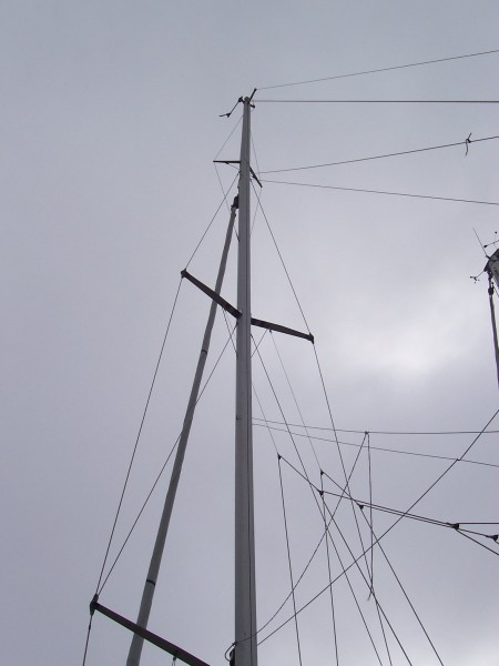 Looking up the mast